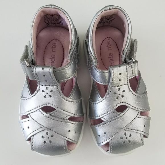 Stride Rite Silver Tulip Sandals